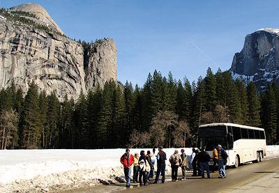 Bus Tour through Yosemite Valley