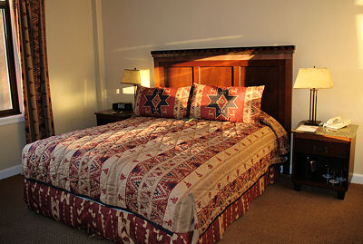 Guestroom at the Ahwahnee Hotel