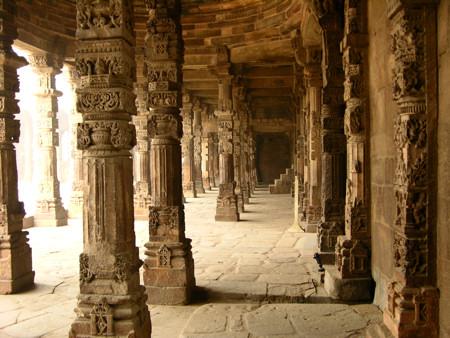 Temple at Qtub Minar Delhi India.