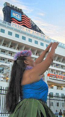 Pride of America Cruise Ship Arrival