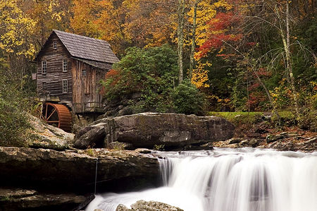 Virgina Grist Mill in Autumn
