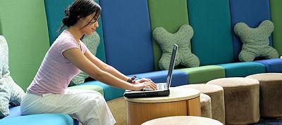 wireless laptop user