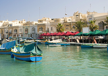 marsaxlokk on the mediterranean coast malta