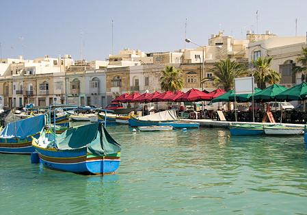 marsaxlokk on the mediterranean coast malta