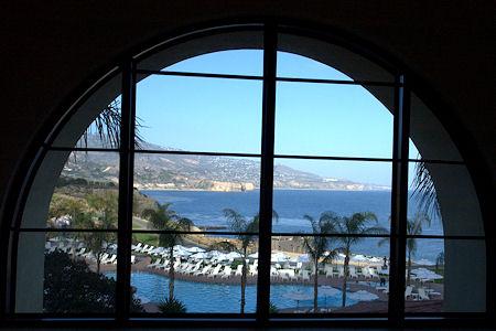 View of Terranea Main Pool from Window
