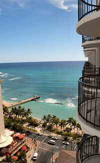 ocean view from the waikiki beach marriott