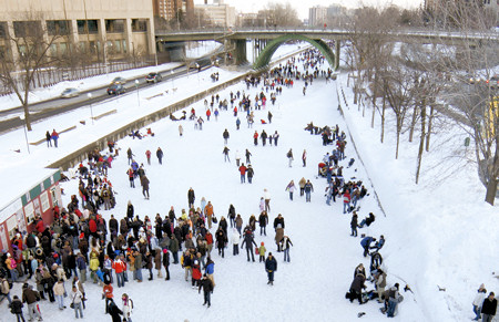ice skaters on rideau canal ottawa