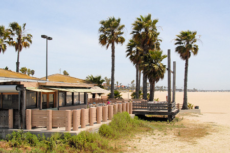 River's End Cafe is located right on the sand of Seal Beach Calfiornia