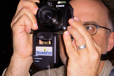 Using the SteadePod Camera Stabilizer in St Peters, Rome Italy