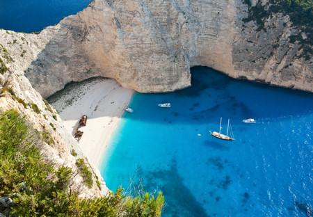 Shipwreck Beach on Greek island of Zante