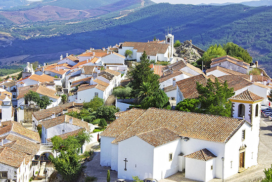 Landscape Of Marvao an old village in Portugal