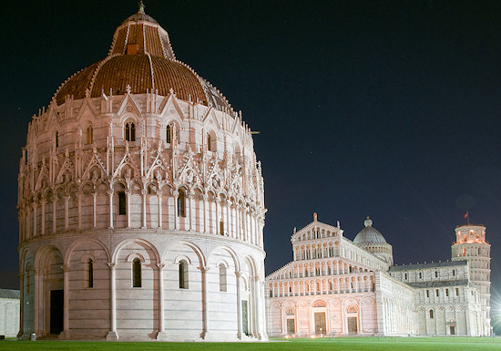 Cathedral of Pisa and Leaning Tower of Pisa, Italy.