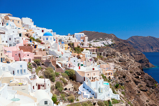 The volcanic island of Santorini, Oia