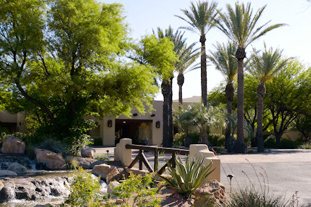 Entrance for Miraval Resort and Spa Tucson Arizona