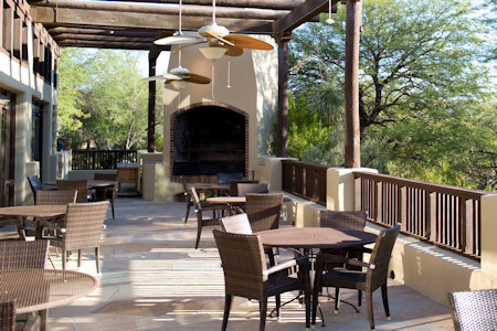 Cactus Fflower spa restaurant at the resort.