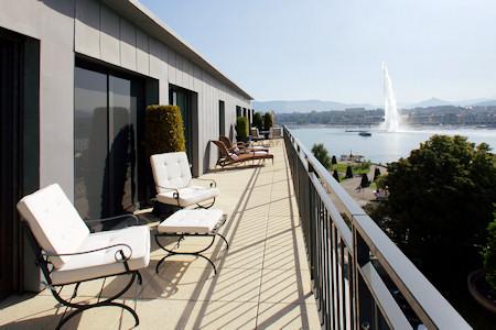 Terrace of the Le Richemond of Geneva Switzerland