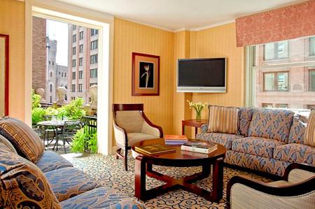 Boston Park Plaza garden suite.