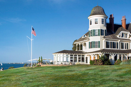 Castle Hill Inn overlooking the water in New Port, Rhode Island