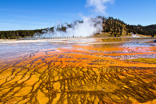 The beautiful Yellowstone National Park spans three States.