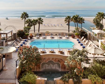 Beach front pool of the Casa Del Mar.