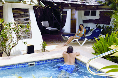 Pool of a Galley Bay Gauguin Cottage.