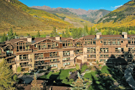 View of the Lodge during the summer in Vail Colorado.