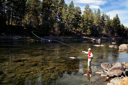 Fly Fishing is one of the many activities at Paws Up.