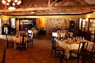 Enjoy a meal at the Sugar Mill dining room.