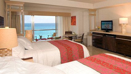 A Junior Suite at the Grand Coral in Cancun.