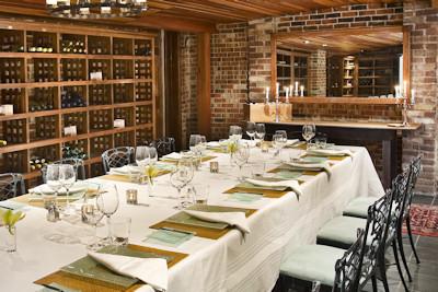 Clifton Inn wine cellar is great for meetings or weddings.