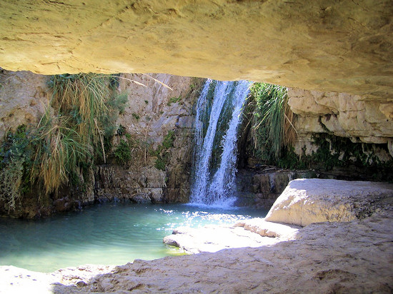 Cave at En Gedi near the Dead Sea, Israel