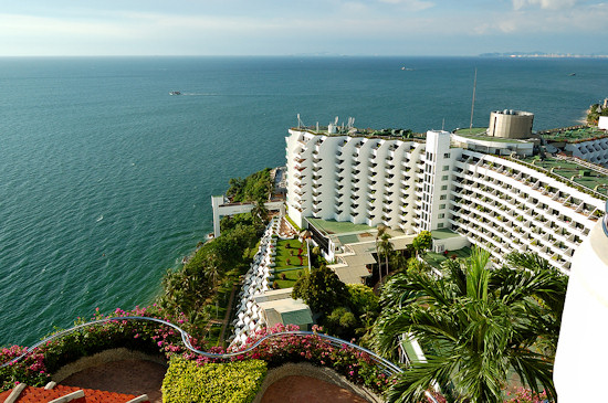 A luxury hotel with ocean view, Pattaya Thailand.