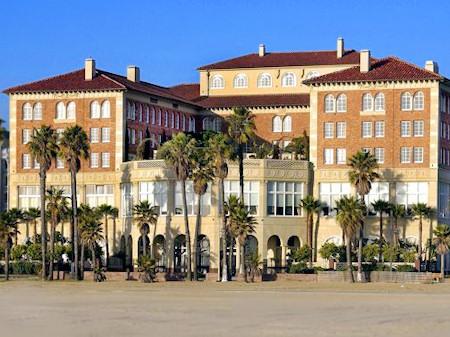 Casa Del Mar hotel on Santa Monica Beach in California.