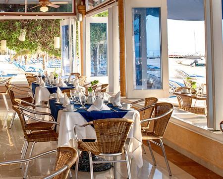 Restuarant at Cancun's Barcelo Costa Resort Hotel.