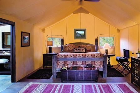 Tent cabin at Pinnacle Camp.