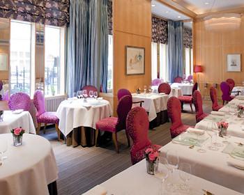 Restaurant at London's Capital Hotel.