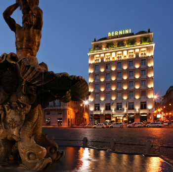 The Bernini Bristol Hotel of Rome Italy