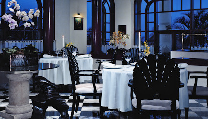 One of serveral of the dining rooms at the Grand Coral Resort.