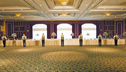 Ballroom for meetings or weddings.