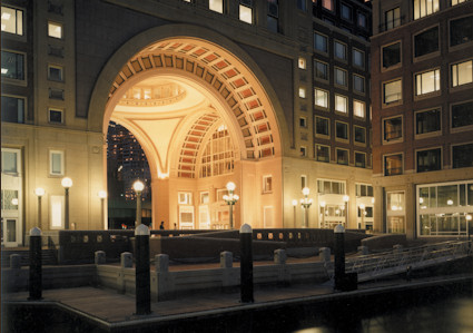 Arch of the Boston Harbor Hotel