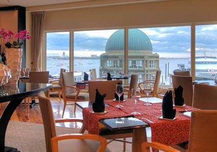 Meritage restaurant located in the Boston Harbor Hotel.