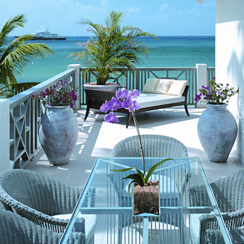 Carlisle Bay balcony room.