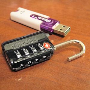 Size comparison photo of lock.
