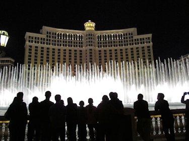 "Groups often visit the ""family friendly"" fountain entertainment."