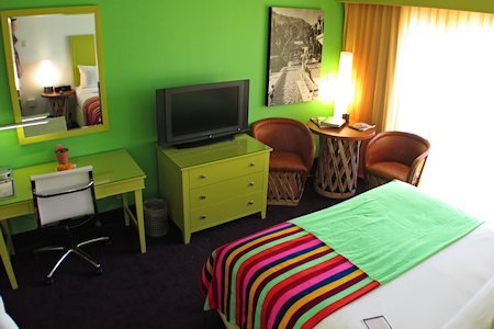 Guest room at The Saguaro Palm Springs