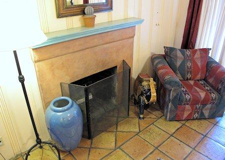 Casa Cody fireplace
