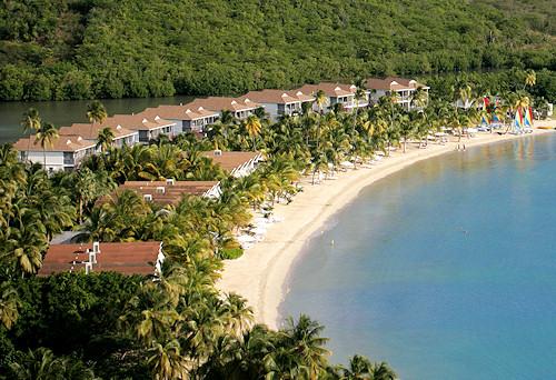 Carlisle Bay Beach Resort, Antigua. Aerial view.