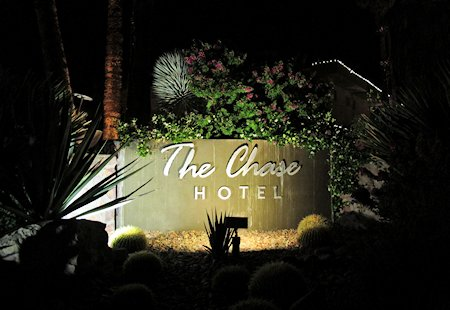 The Chase Hotel Palm Springs sign