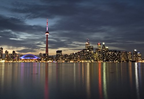 View from the lake of Toronto, Canada