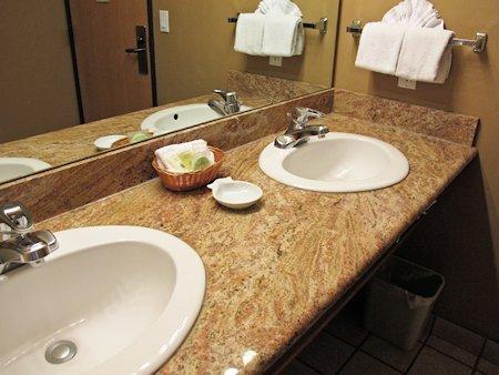 Sink area located just inside rooms entry door.